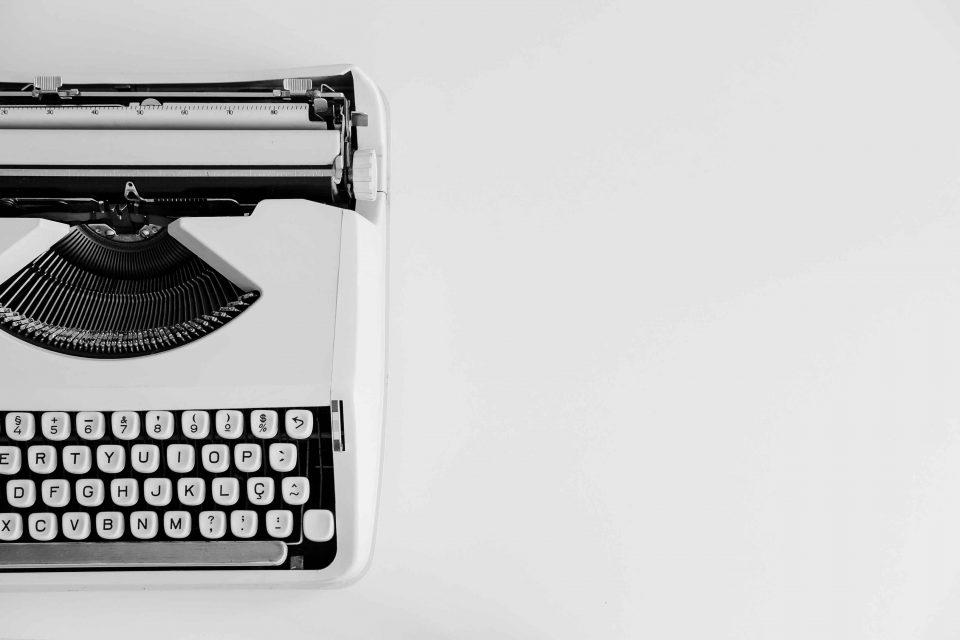 White and black typewriter